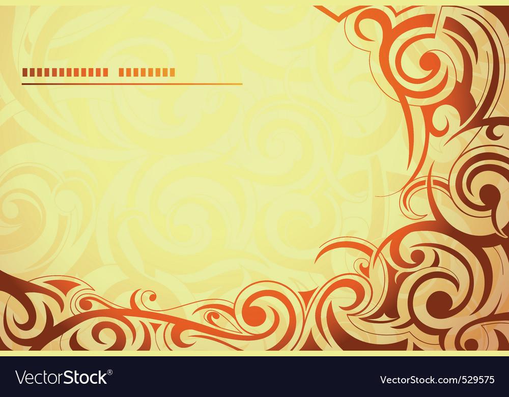 Flourish background vector image