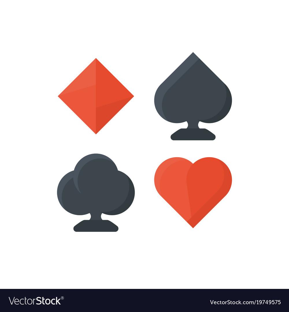 Set of playing cards symbols royalty free vector image set of playing cards symbols vector image biocorpaavc