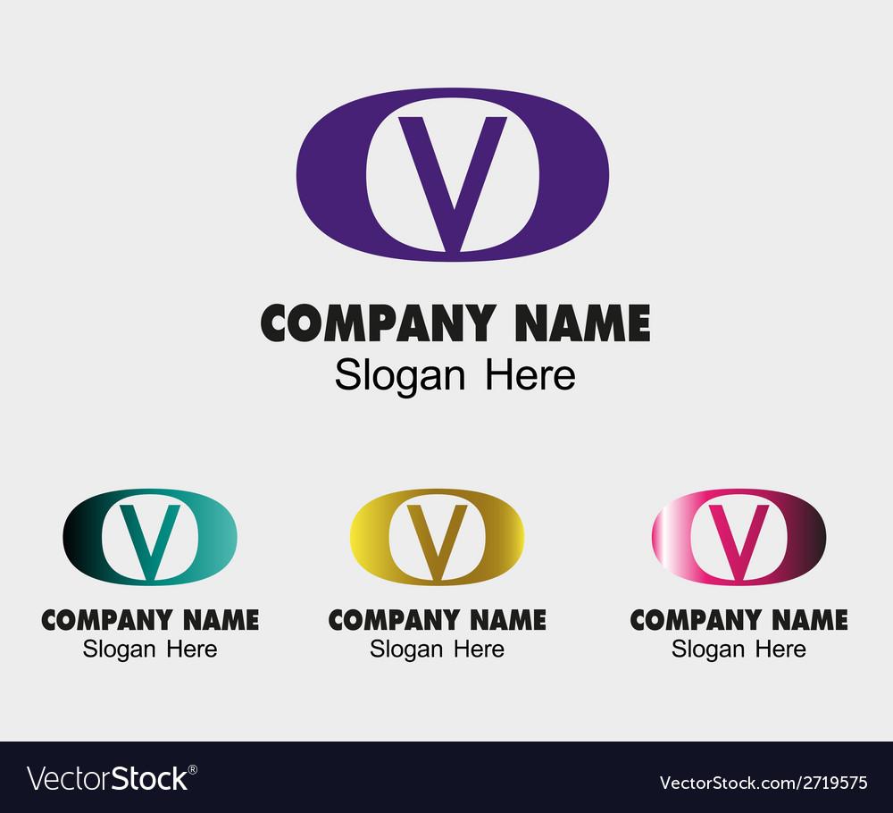 V logo Company name icon letter V vector image