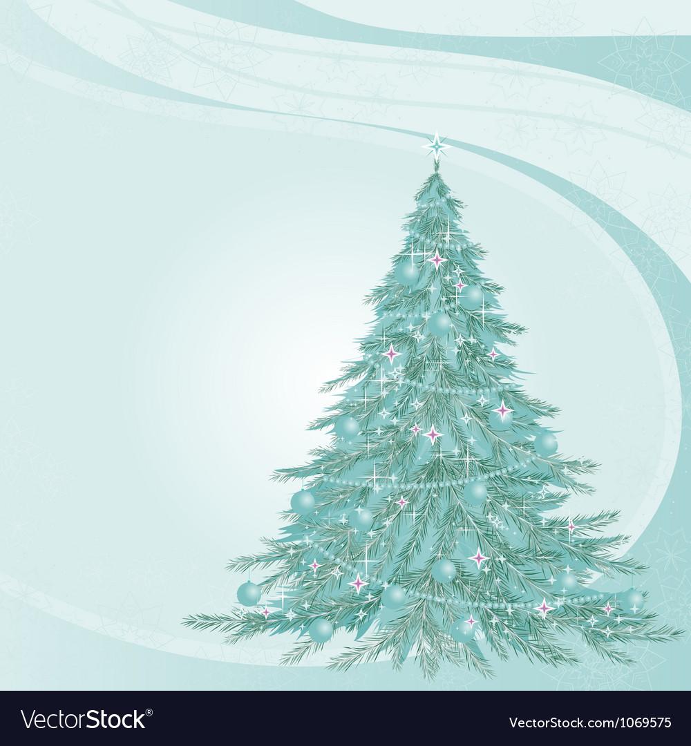 Von with fir-tree vector image
