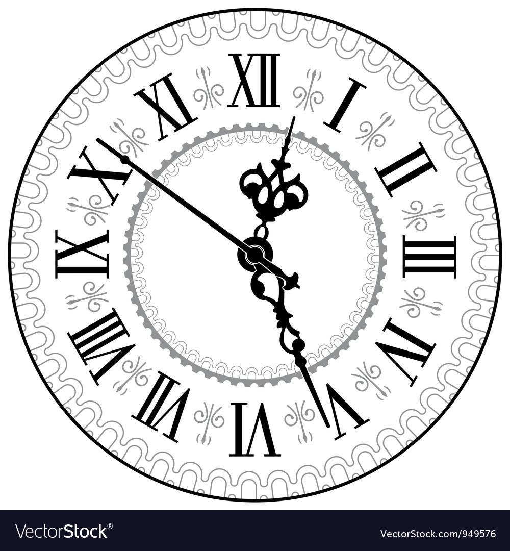 Antique clock Vector Image