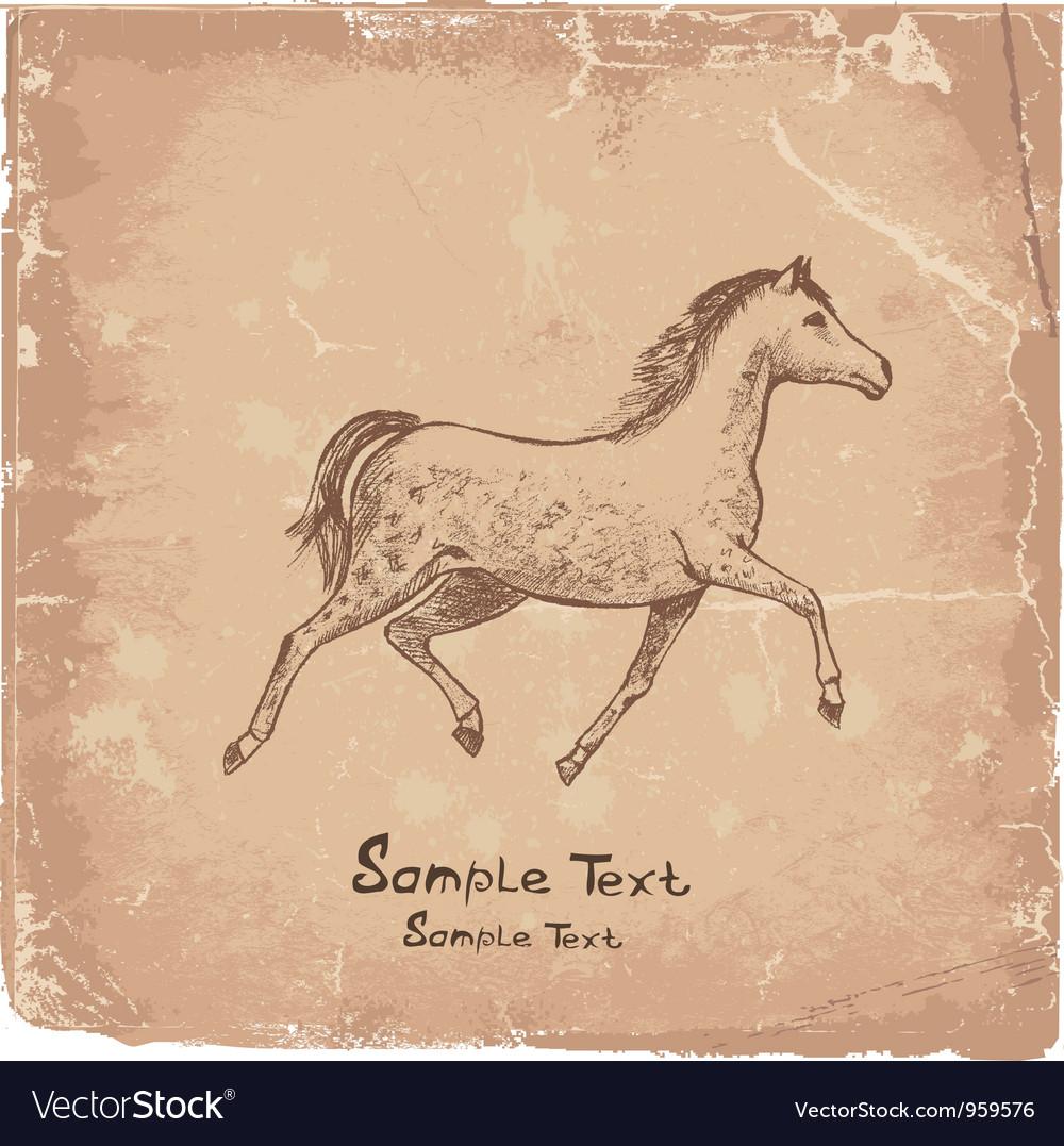 Art horse vector image
