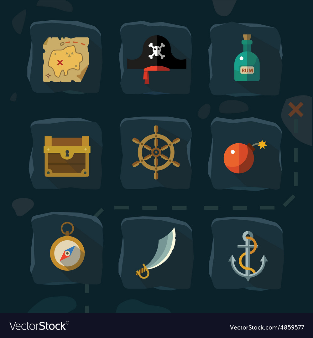 Pirate adventure vector image