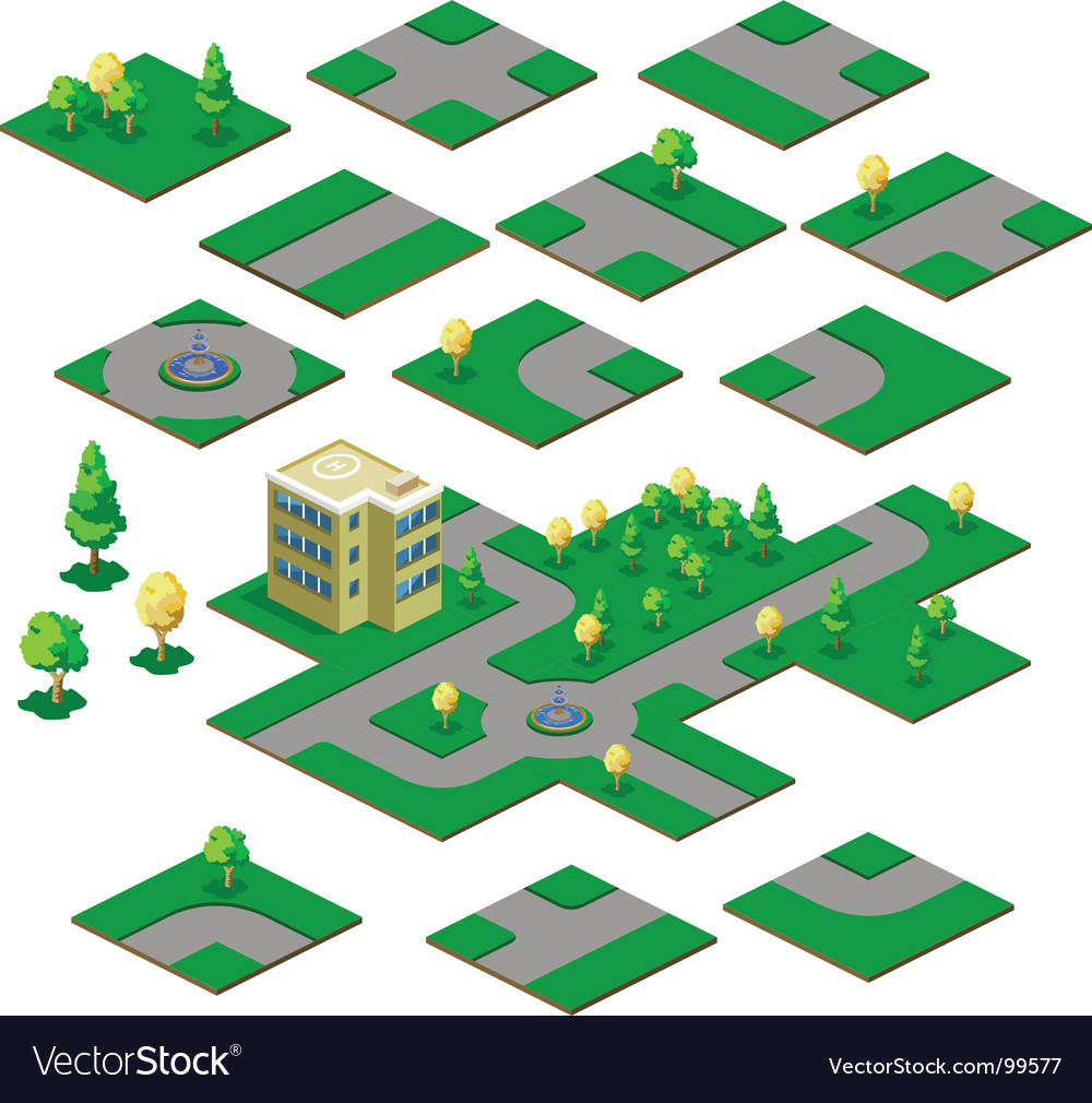 Road map vector image