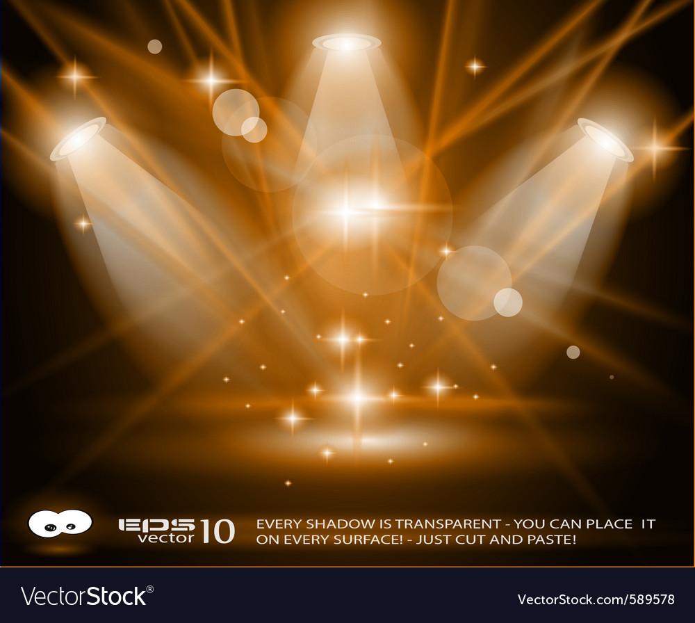 Concert lights vector image