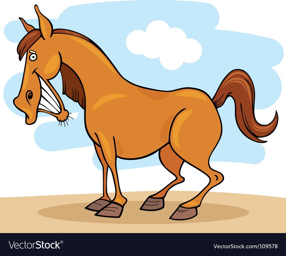 cartoon horse royalty free vector image vectorstock