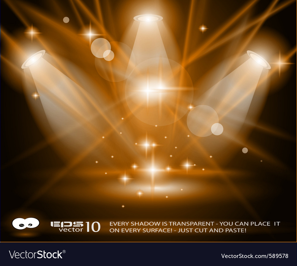 Concert lights vector image
