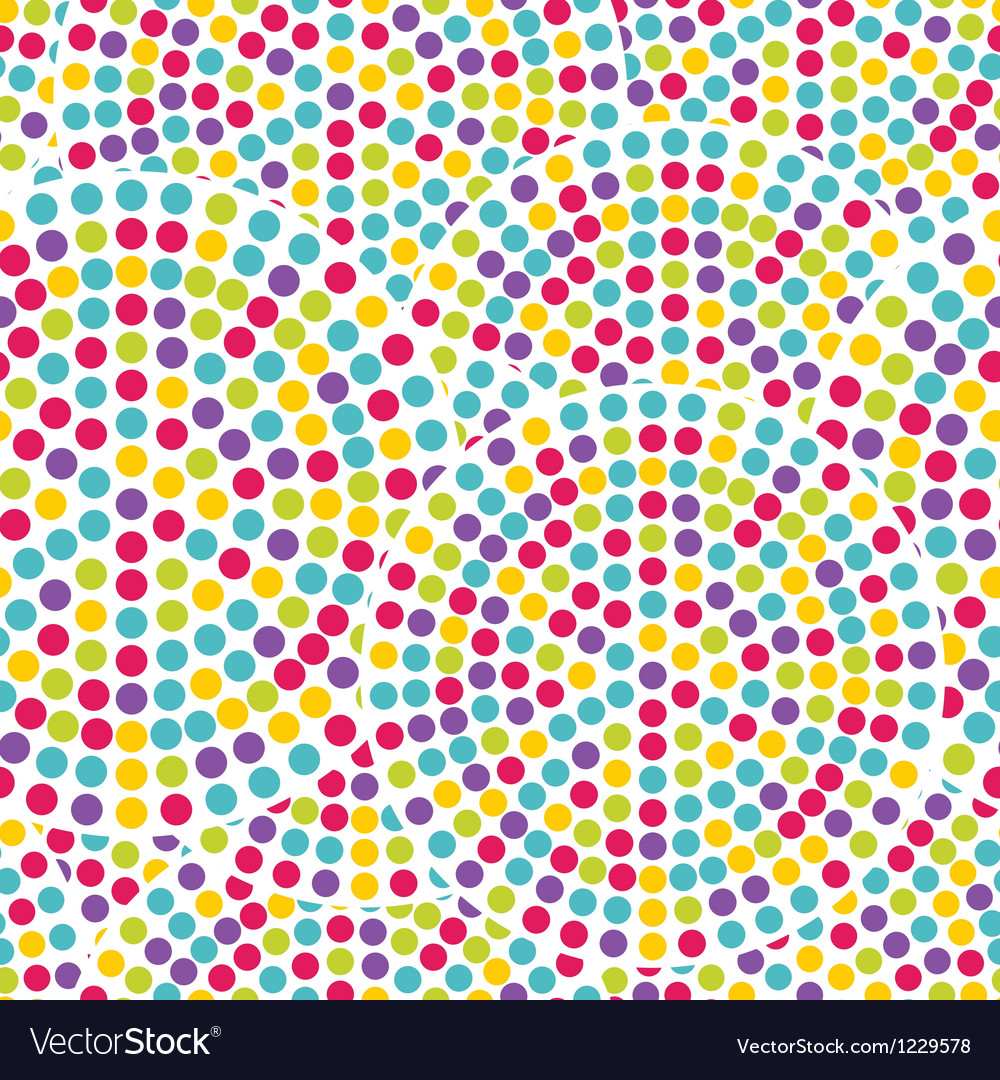 Dot circles seamless pattern vector image
