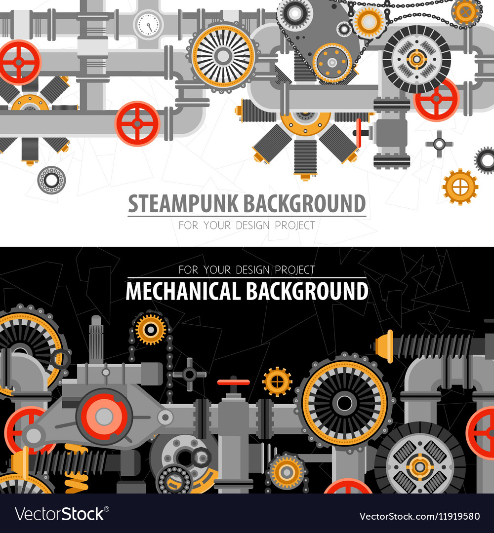 Abstract Technological Horizontal Banners vector image