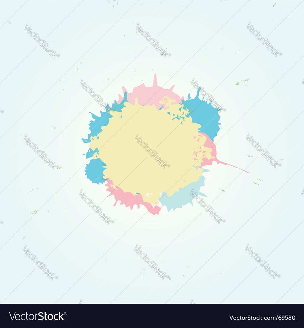 Pastel splash vector image