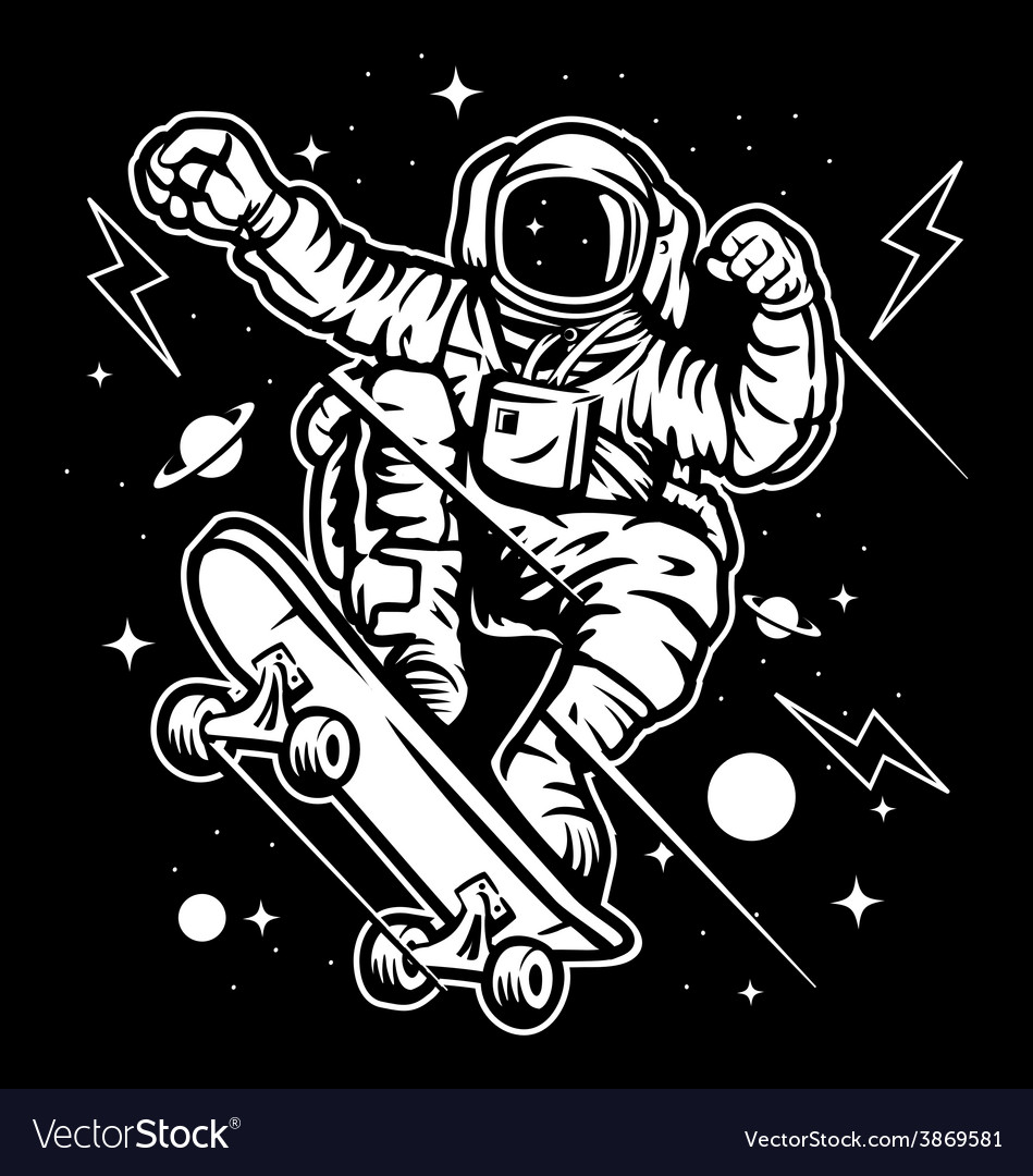 Skate Space vector image
