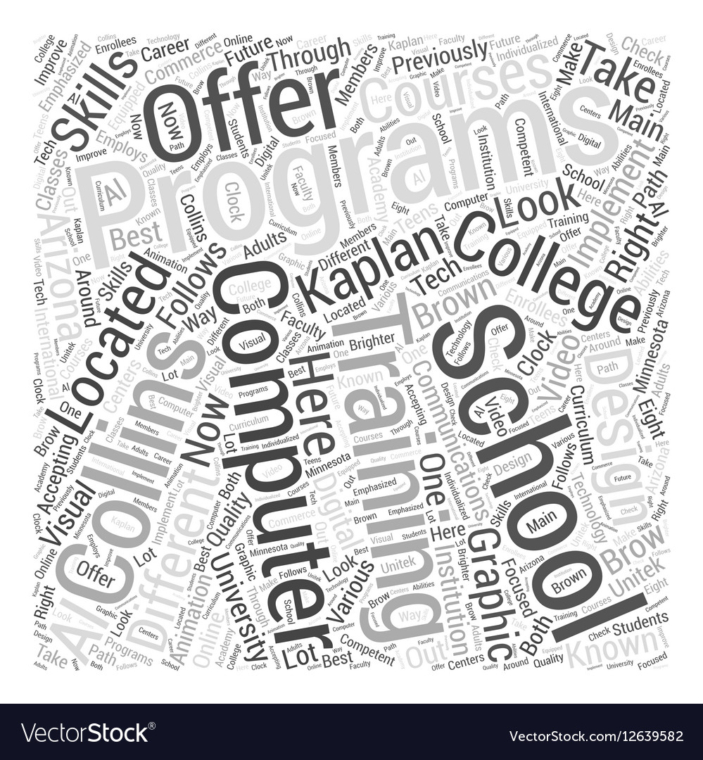 Computer programming training Word Cloud Concept vector image