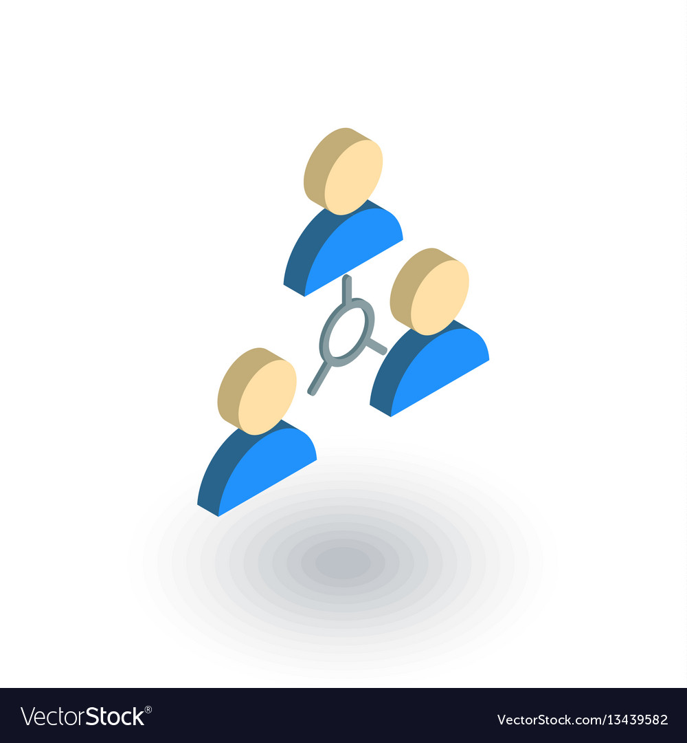 People group community network isometric flat vector image
