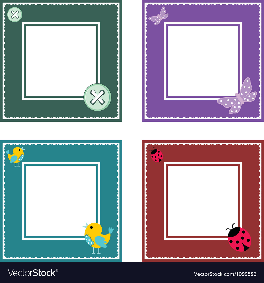 Set of cute frame vector image