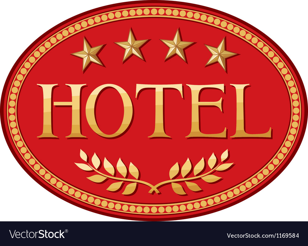 Hotel label design vector image