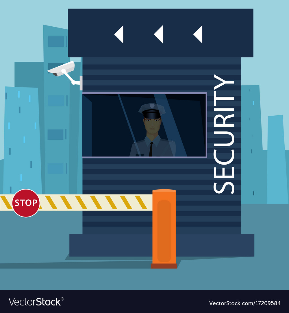 Border passport control or security checkpoint vector image