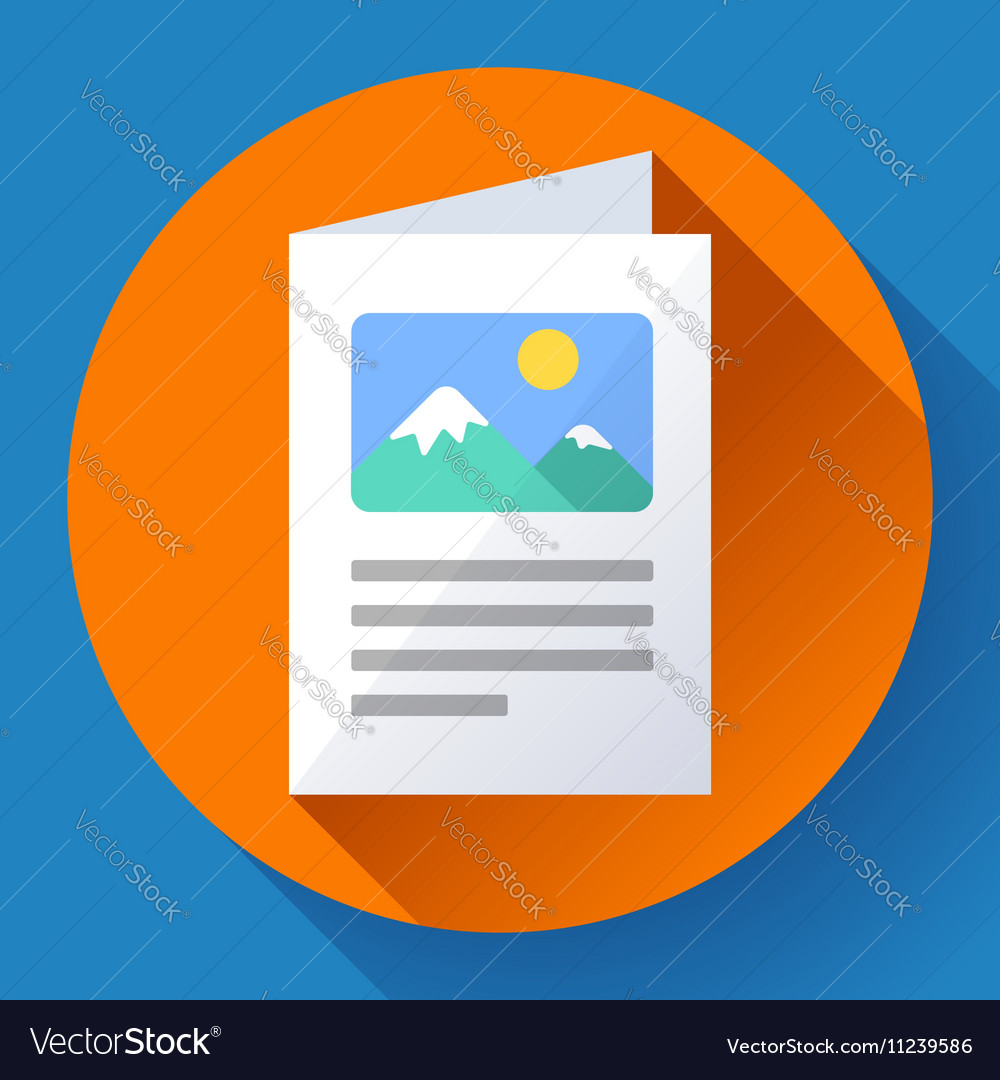 Flat Brochure Icon vector image