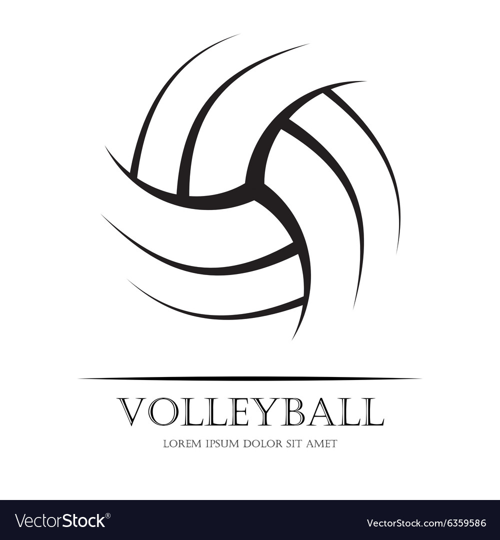 Volleyball background ball vector image