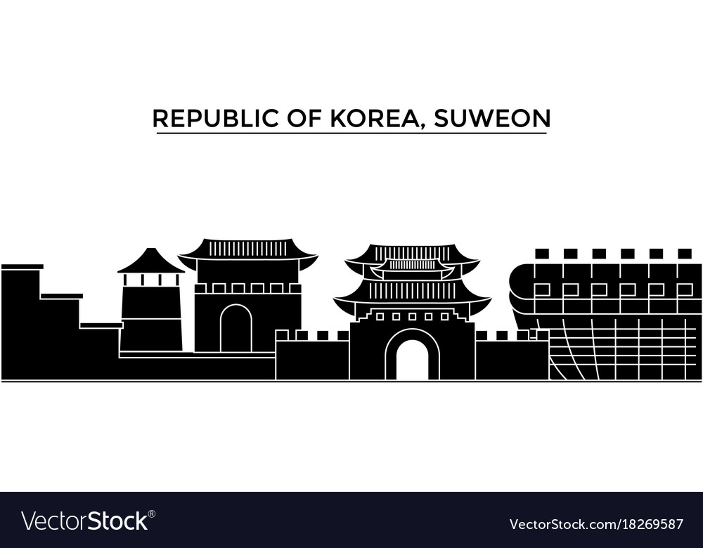 Republic of korea suweon architecture city Vector Image