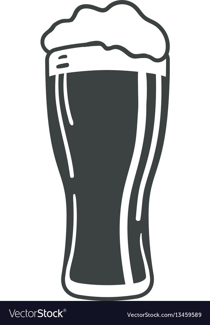 Beer glass icon iweb sign symbol logo label vector image