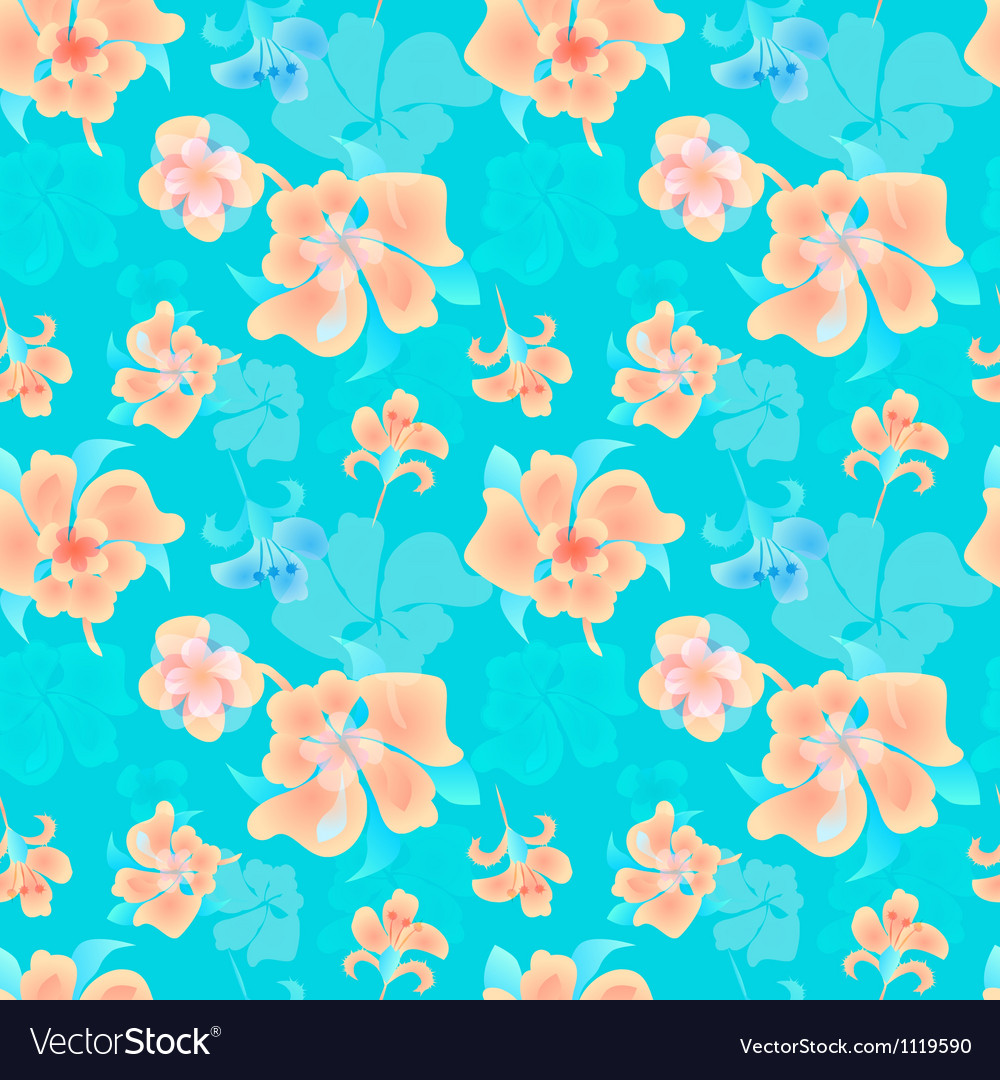 Ornate floral endless pattern vector image