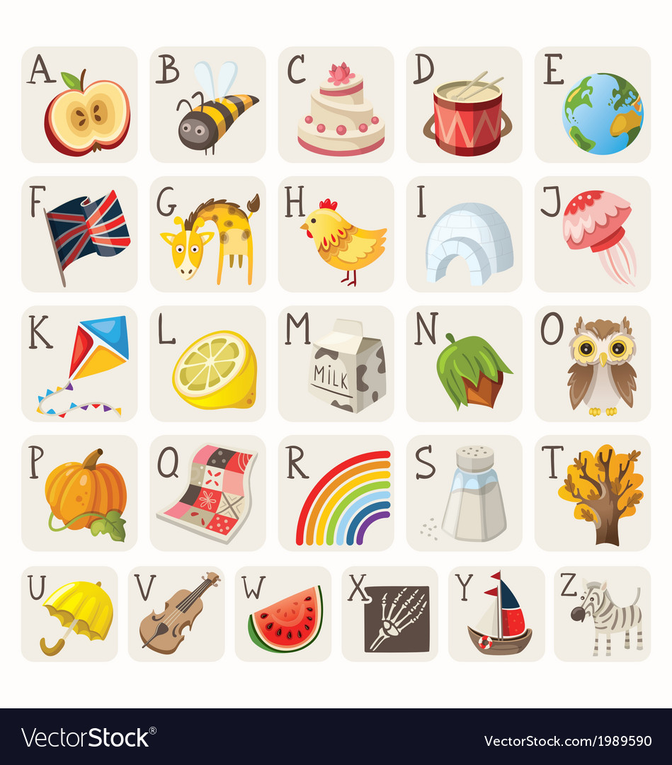 Alphabet for children vector image