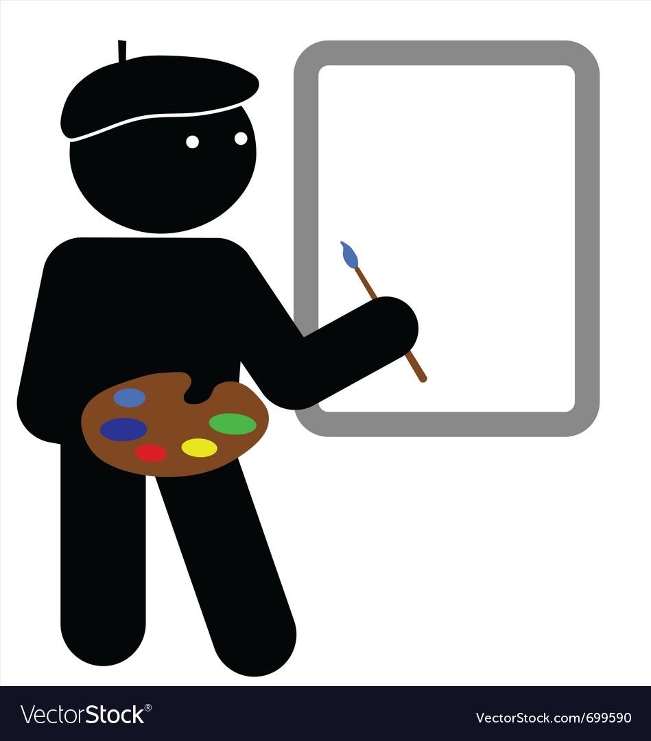 Artist vector image