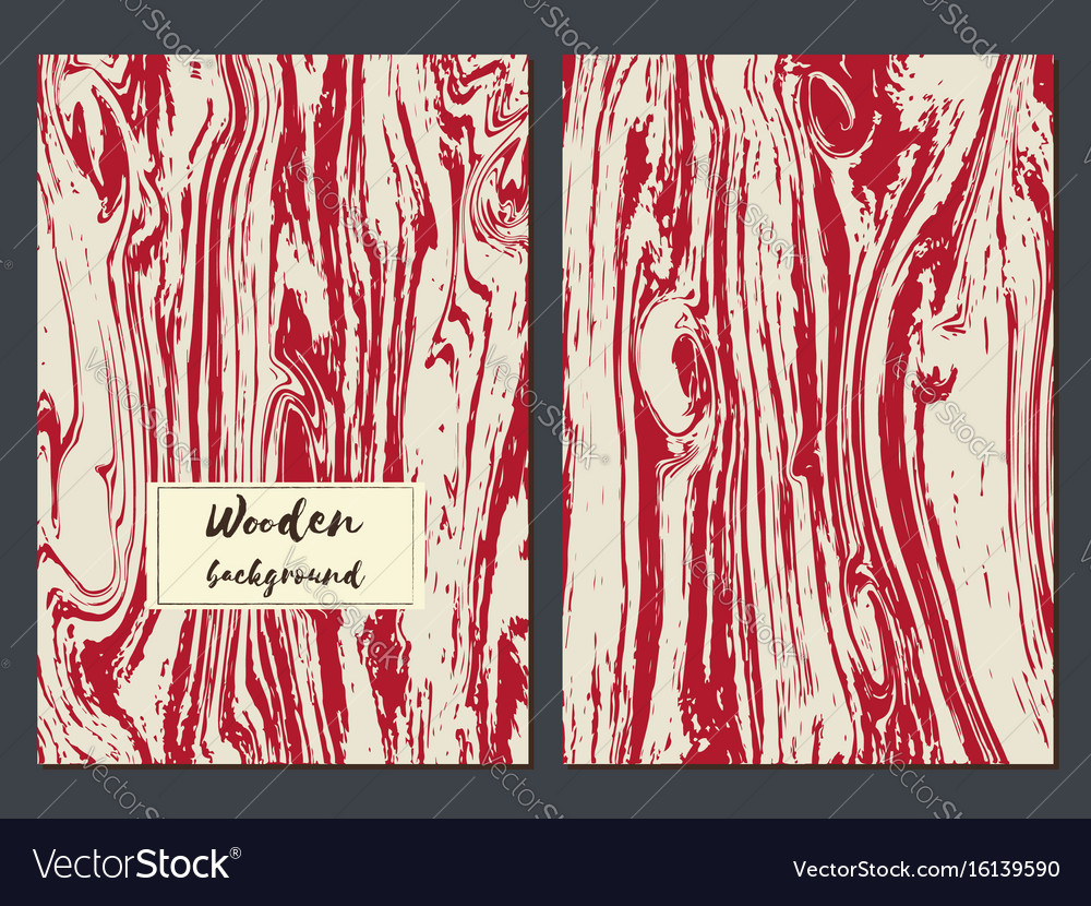 Wooden texture background card templates vector image