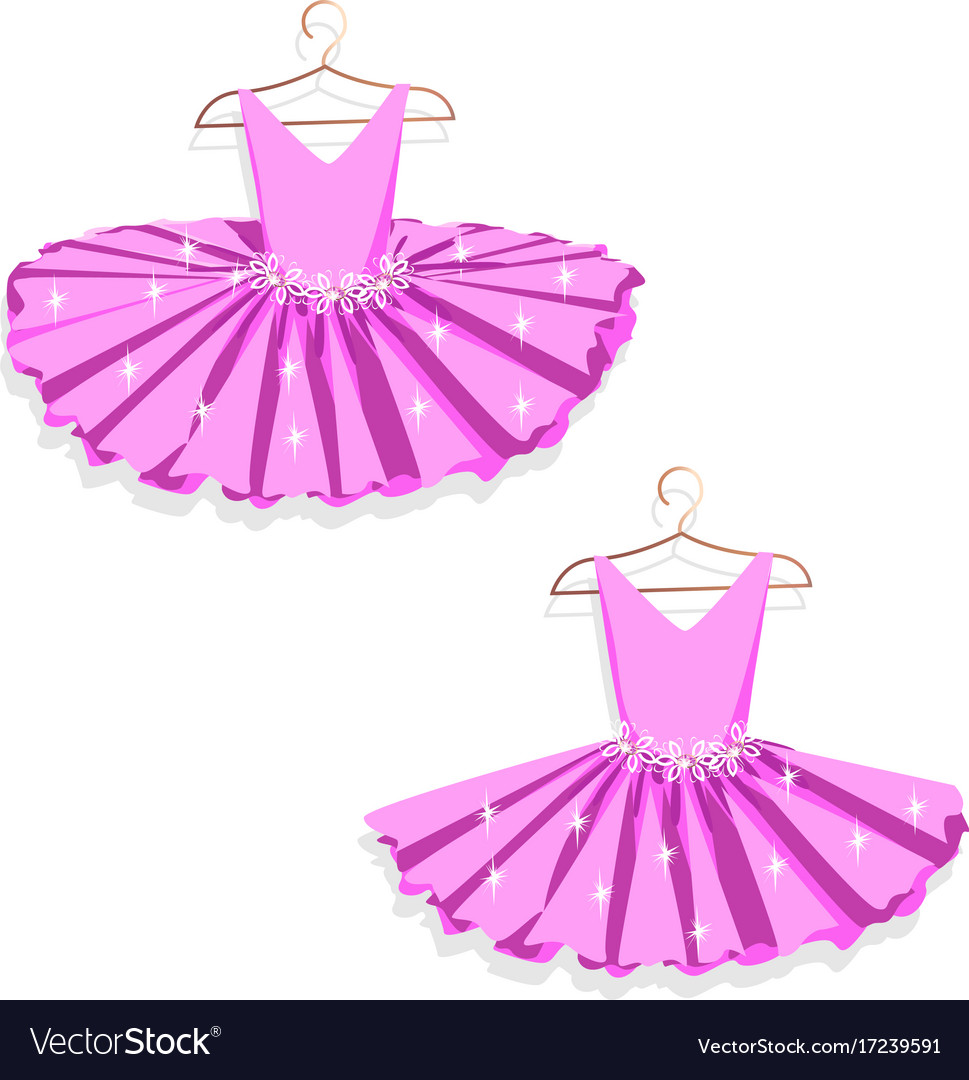 Dance dress on a hanger vector image