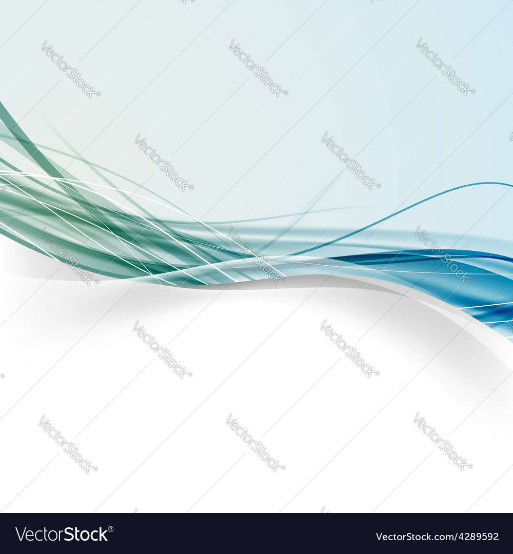 Speed smooth wave swoosh line abstract border vector image