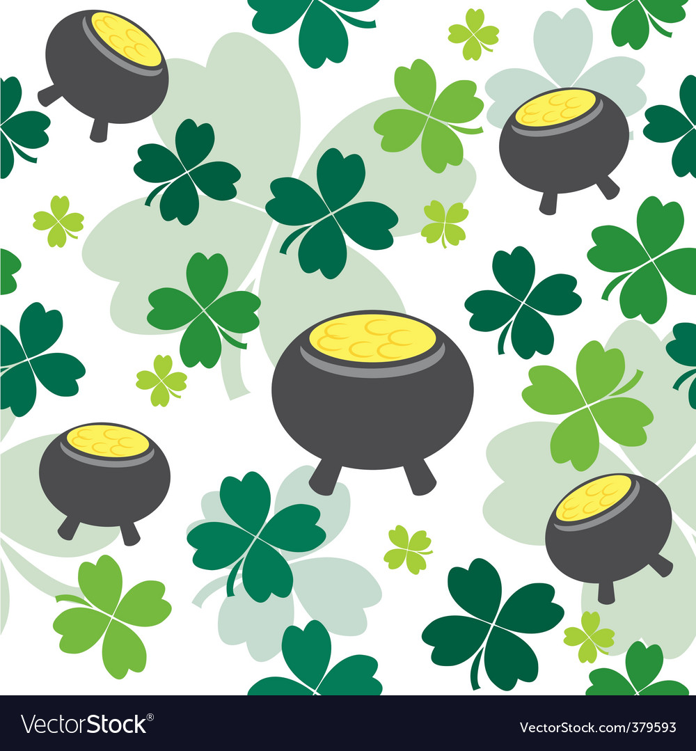 shamrock background royalty free vector image vectorstock