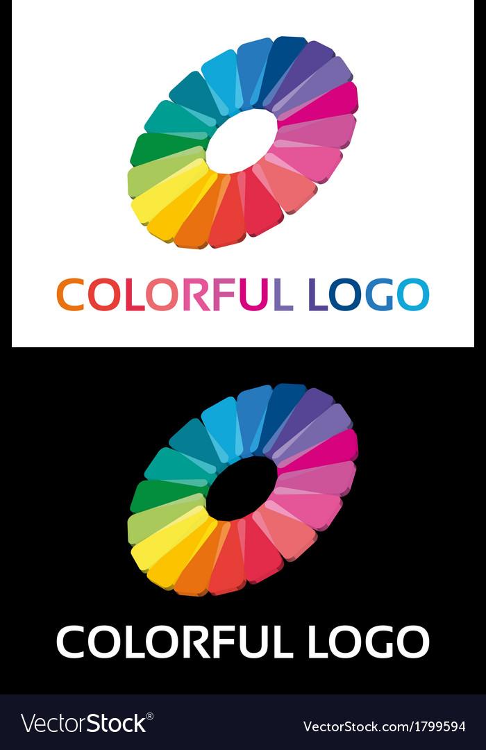 Abstract creative colorful logo vector image