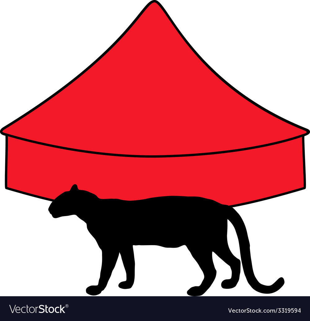 Leopard in circus vector image