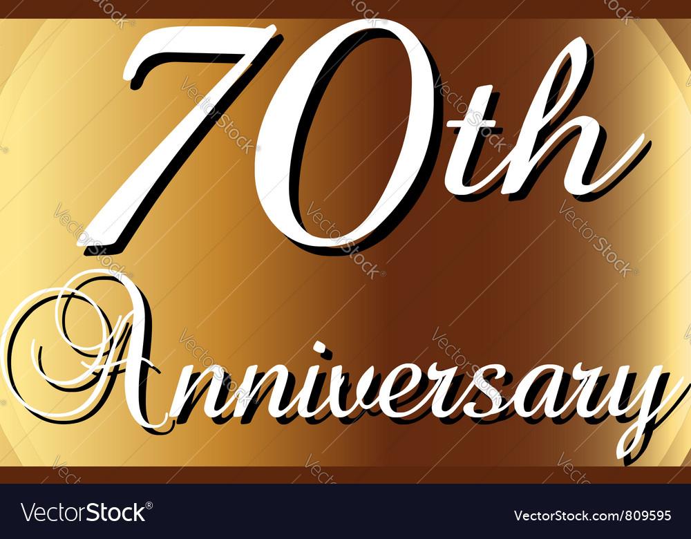 70th-anniversary vector image