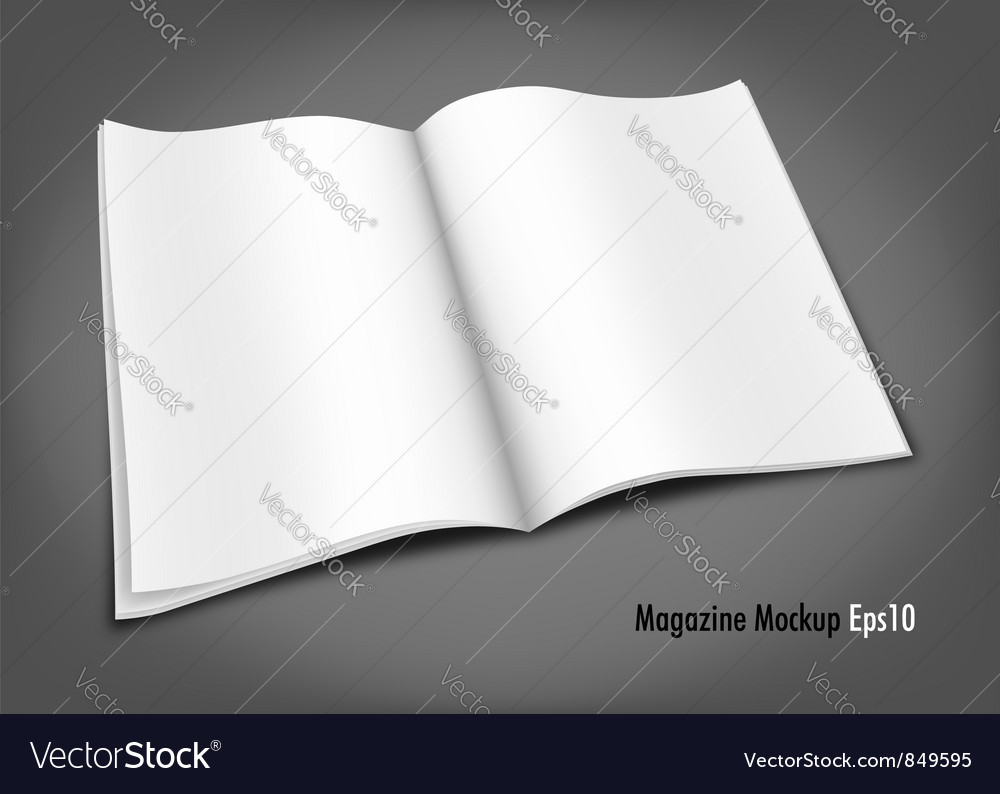 Blank magazine mockup template royalty free vector image blank magazine mockup template vector image pronofoot35fo Images