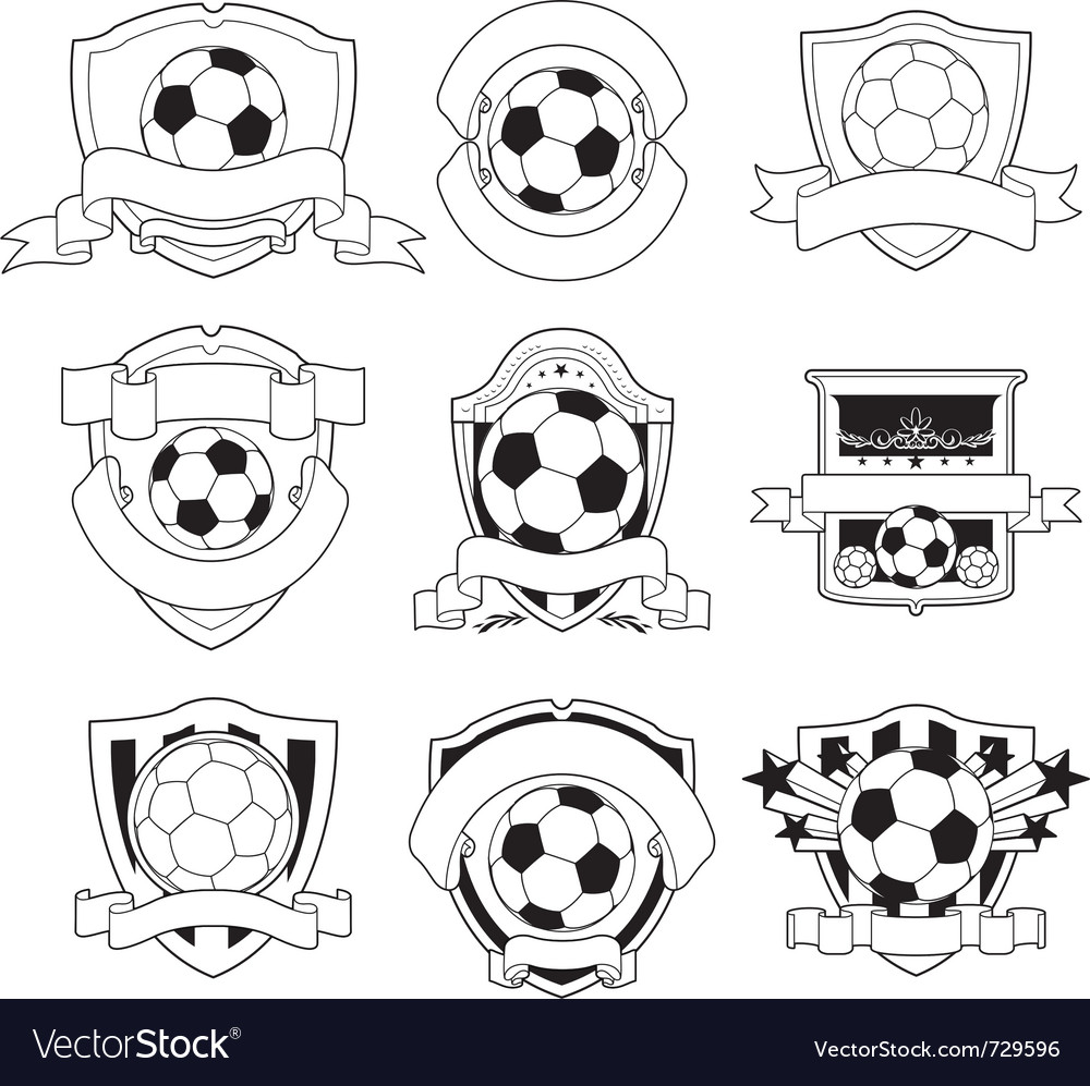 Soccer badge vector image