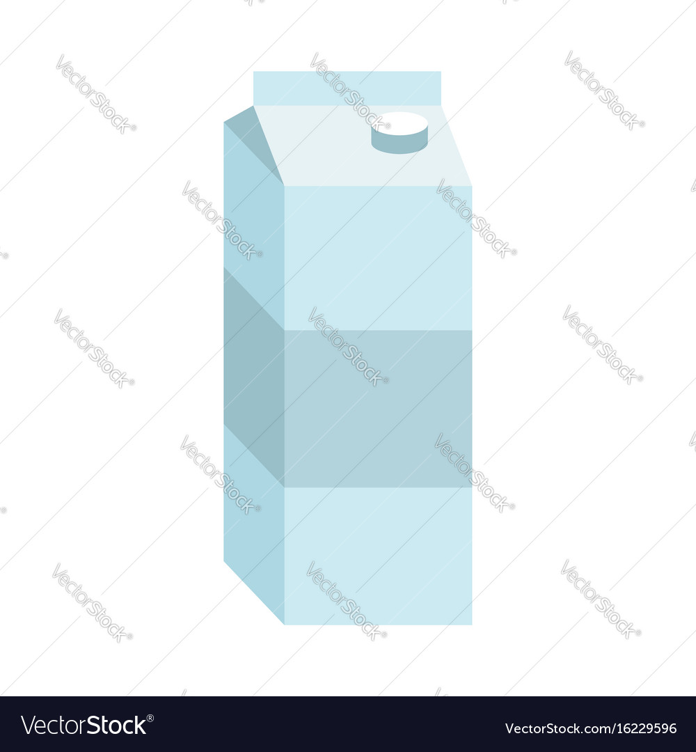 Juice box paper packaging for milk isolated vector image