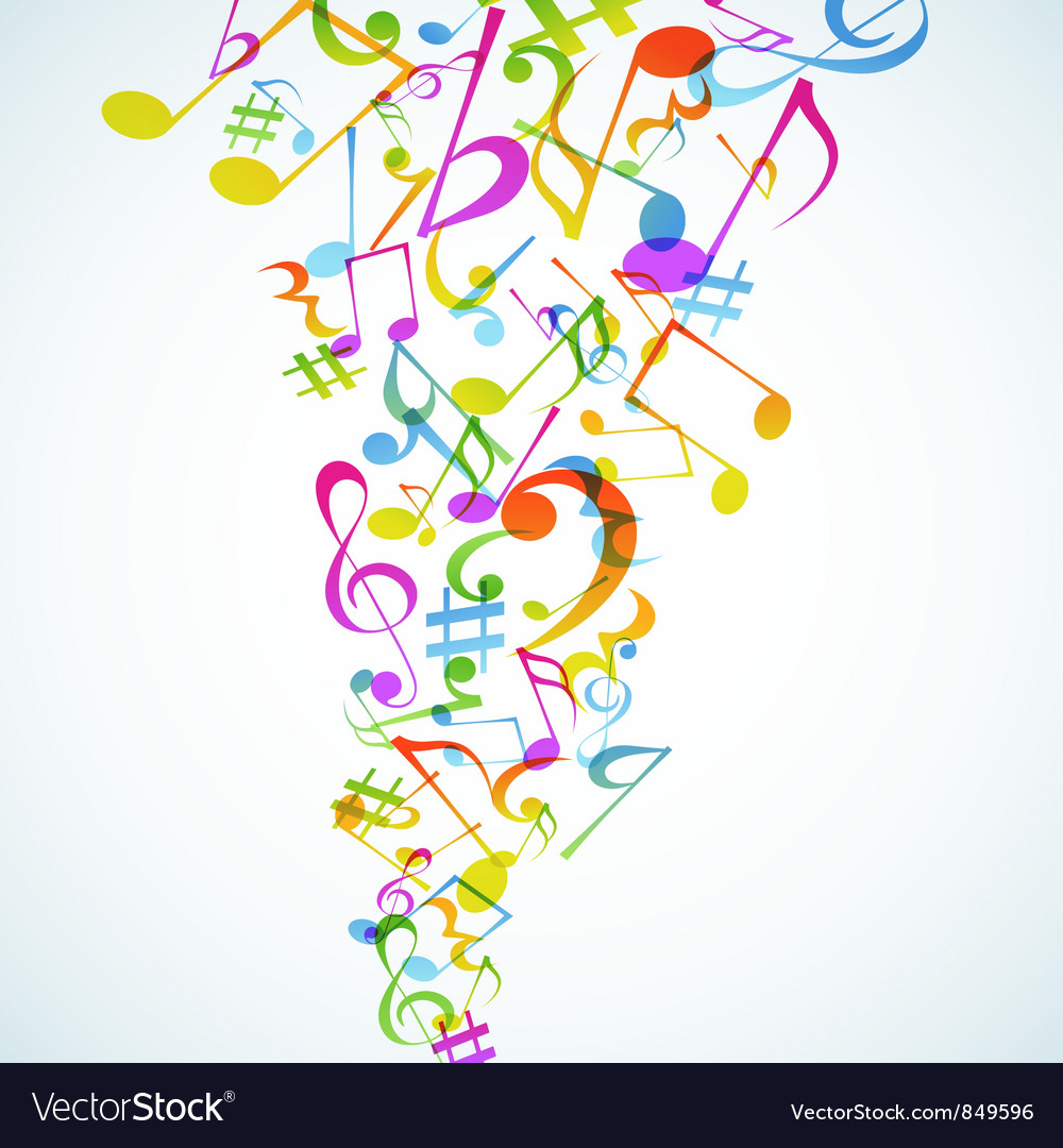 Music baskground vector image