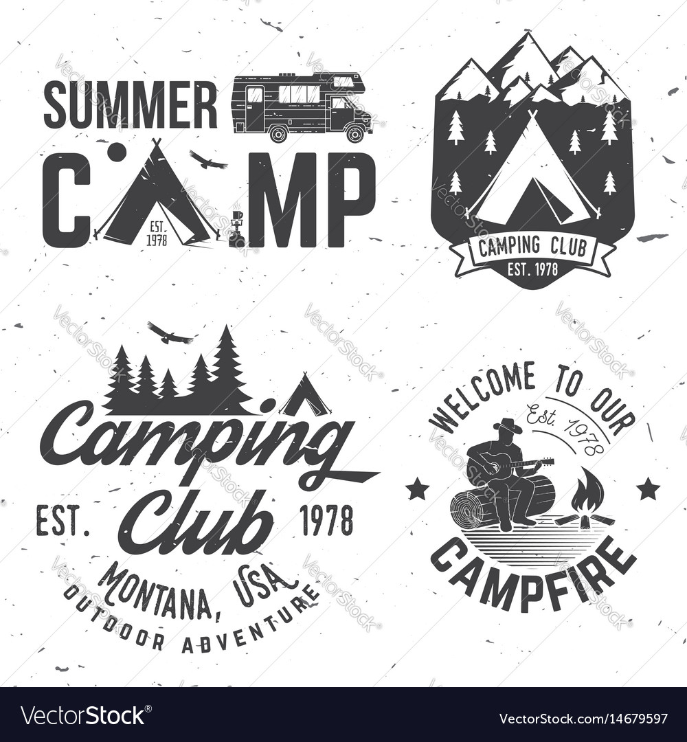 Summer camp concept for vector image