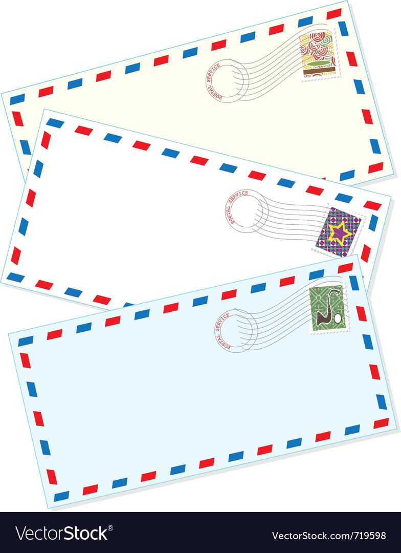Air mail envelopes Vector Image