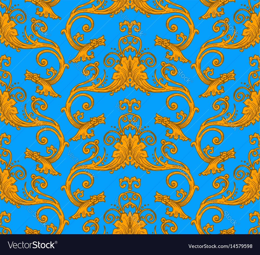 Antique victorian seamless pattern vector image