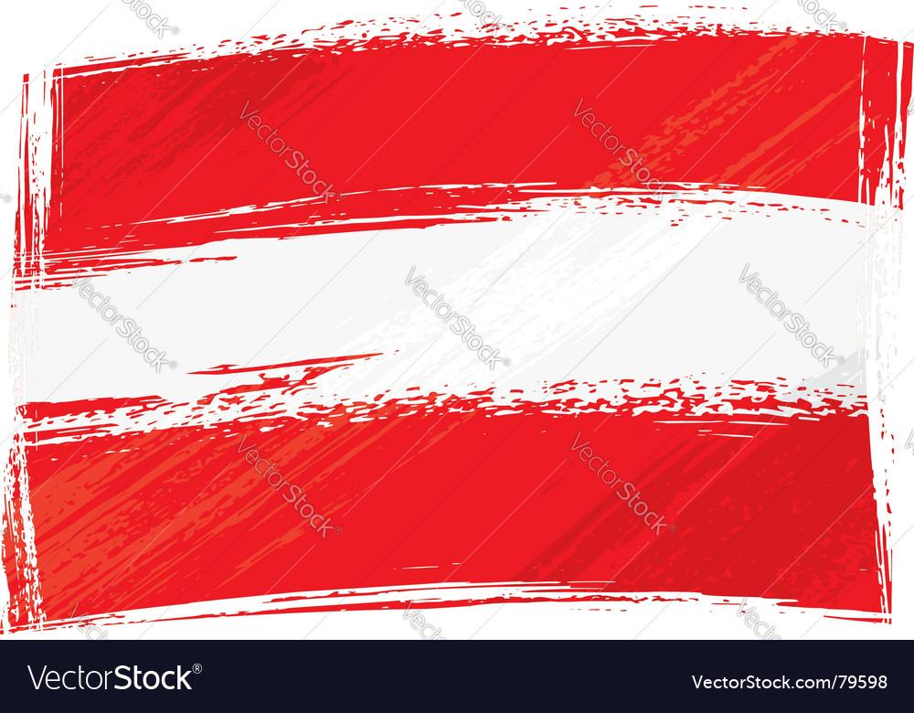 Grunge Austria flag vector image