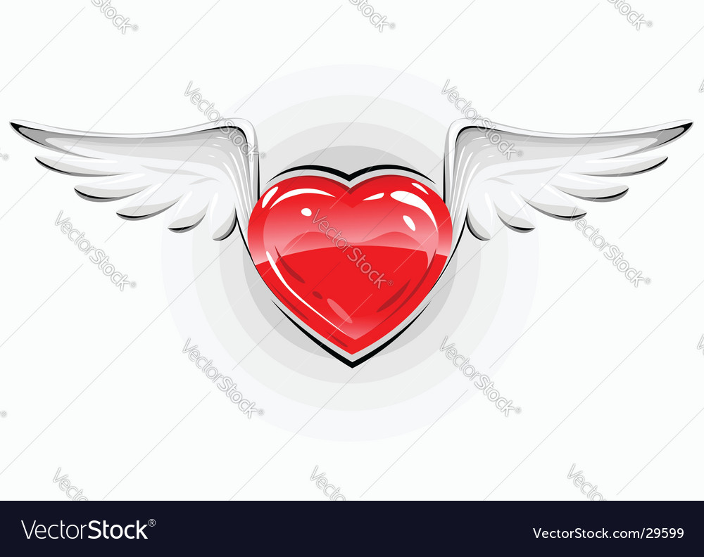 Love heart symbol vector image