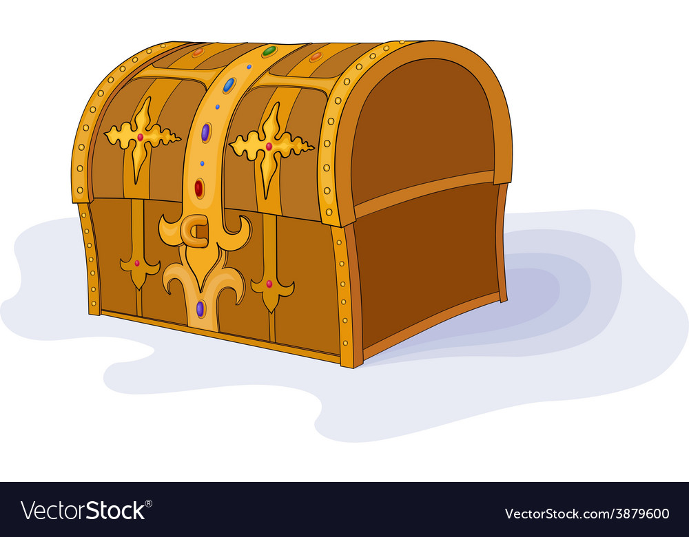 Magic chest vector image