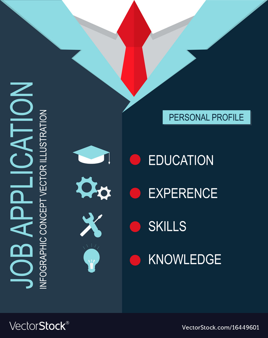 Job application personal profile vector image