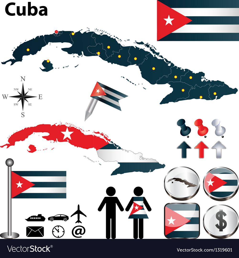 Map of Cuba vector image