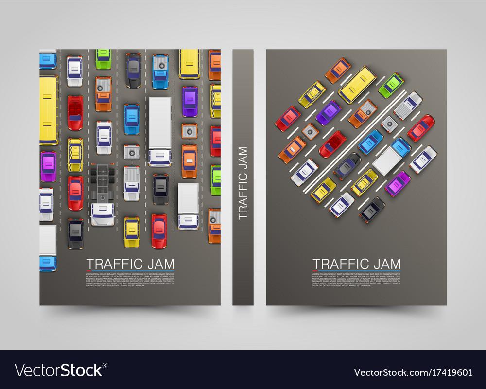 Modern transport vertical banners road flyer set vector image