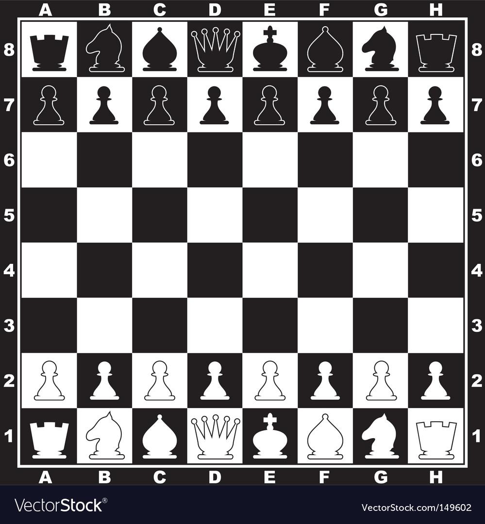 Chess Board Royalty Free Vector Image Vectorstock