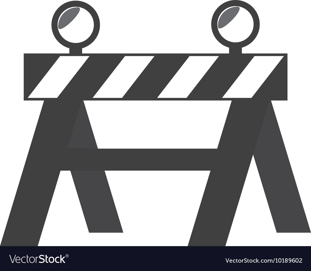 Construction barricade barrier graphic vector image