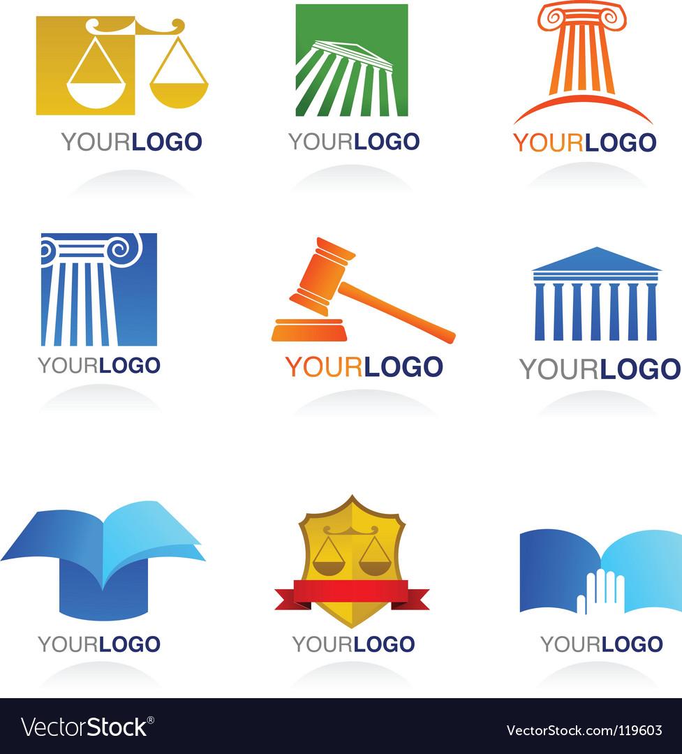 Legal logos vector image